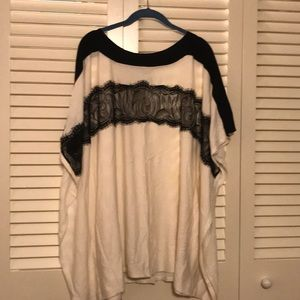 Chico's Tunic Sweater with Lace details